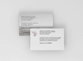 Carte de deuil, faire-part de décès, carte de remerciement
